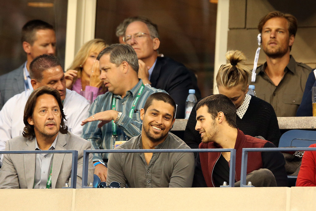 Wilmer Valderrama took in a match from his box seats.