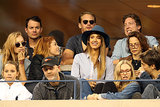 Jessica Alba and her friends enjoyed a match alongside Alexander Skarsgard, Justin Long, and Amanda Seyfried.