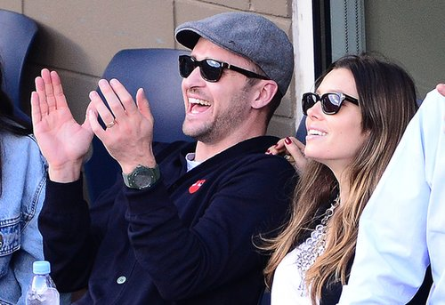 Justin Timberlake and Jessica Biel enjoyed a match during the US Open.