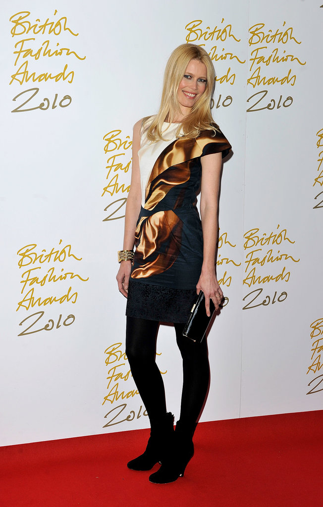 Claudia Schiffer put Mary Katrantzou on the map wearing one of her early designs to the 2010 British Fashion Awards.