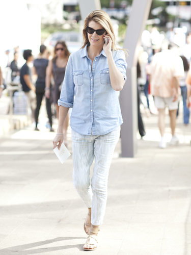 Printed denim, a chambray button-down — and yes, flats at Fashion Week.