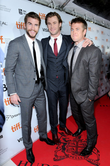 Triple the Hemsworths: Chris Has Liam and Luke by His Side at the Rush Premiere