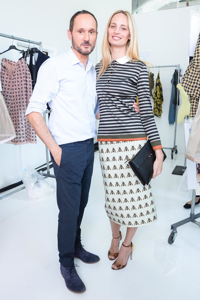 Lauren Santo Domingo joined Josep Font at the Delpozo presentation.