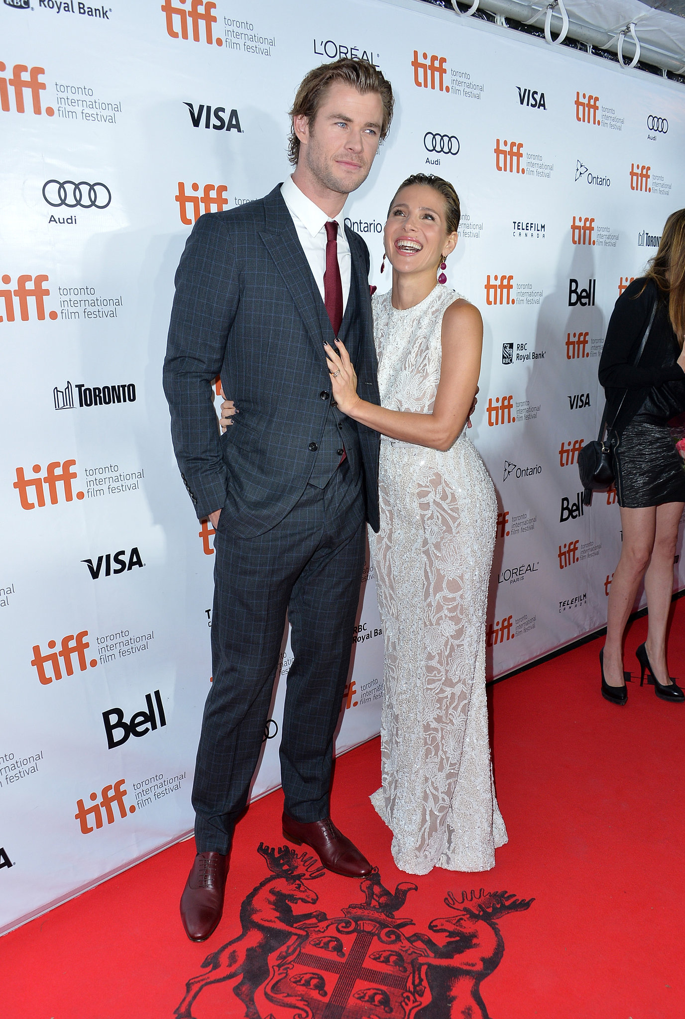 Chris Hemsworth's wife, Elsa Pataky, accompanied him on the red carpet at his Rush premiere.