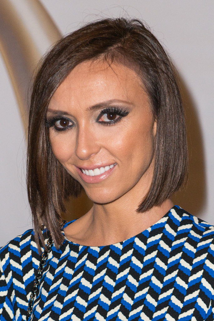 A trendy asymmetrical bob is a flattering style on Giuliana Rancic.