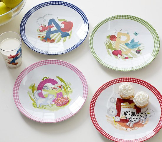 Learn the ABCs the sweetest way possible with Pottery Barn Kids' ABC Plates set ($20, originally $26) featuring multicolored gingham trim and charming illustrations.