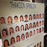 All the pretty faces at Thakoon.