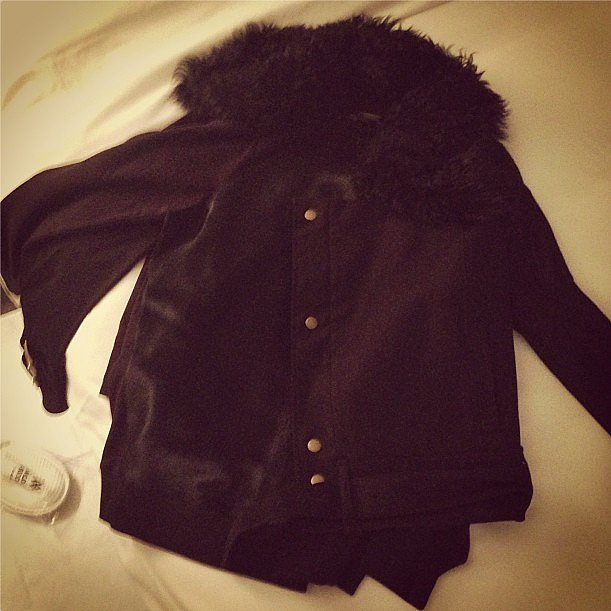 "The best way to say ""congratulations"" to Sophia Bush is with a Rachel Zoe coat. Source: Instagram user sophiabush"
