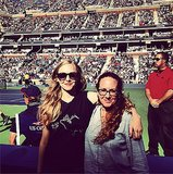 Amanda Seyfried got sporty for her outing to the US Open. Source: Instagram user mingey