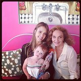 Jessica Alba got in some adorable quality time with DVF and Haven. Source: Instagram user jessicaalba