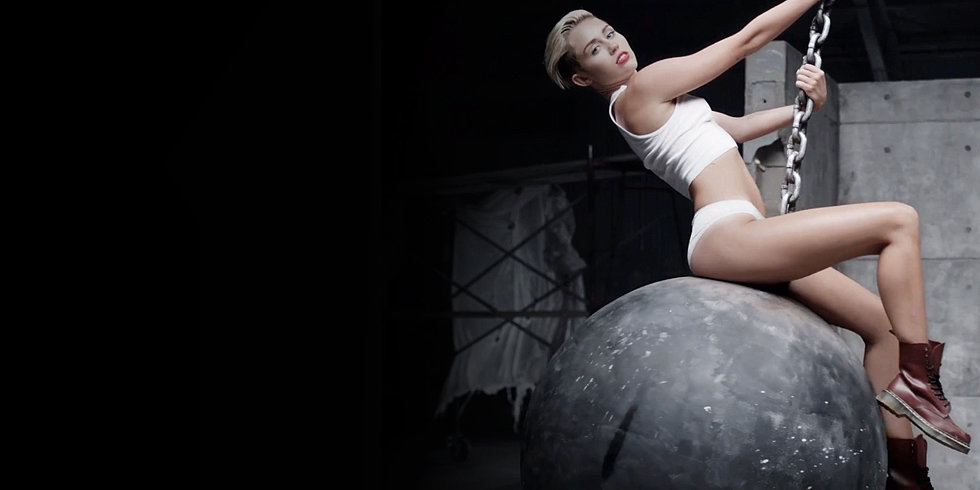 Miley Makes History With Sledgehammer Licking and Nude Wrecking-Ball Riding