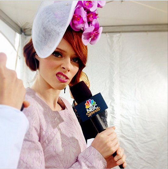 You can't take this girl anywhere (we kid!). Source: Instagram user cocorocha