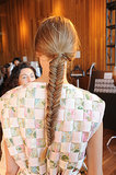 Fishtail braid at Houghton.