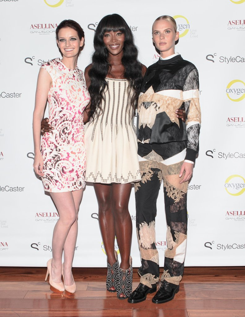 At the Stylecaster The Face celebration, the show's panel, Lydia Hearst, Naomi Campbell, and Anne V., greeted the crowd.