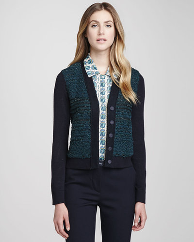 Tory Burch Lainey Textured Cropped Cardigan