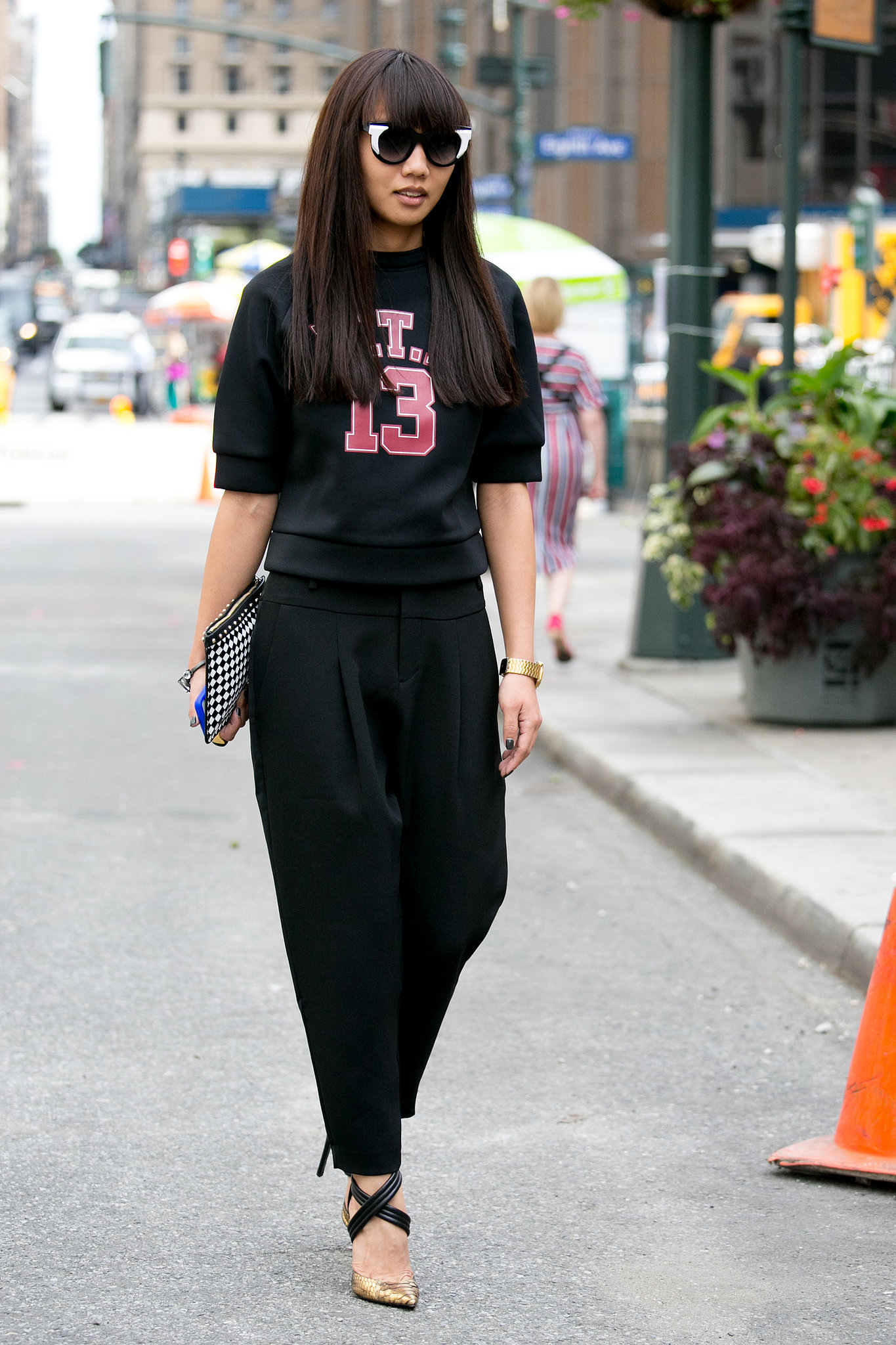this sporty look was a street style all star hot shots