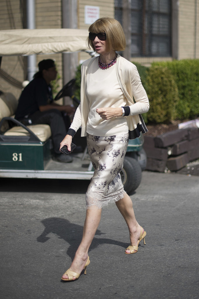 Anna Wintour, as always, played it polished.