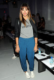 It was fitting that Rashida Jones were her Radarte tee at the Rodarte show.