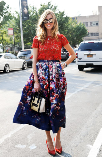 Chiara Ferragni's bright florals make us smile.