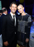 Novak Djokovic posed with model Karolina Kurkova at his foundation's dinner in NYC.