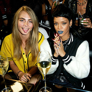 Rihanna and Cara Delevingne at River Island Launch | Photos