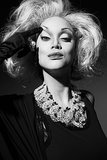 Tyra Banks photographed by Udo Spreitzenbarth as Carmen Dell'Orefice. Photo courtesy of Tyra Banks