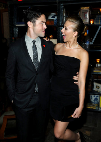 Scarlett Johansson and Joseph Gordon-Levitt made funny faces at the Don Jon afterparty.
