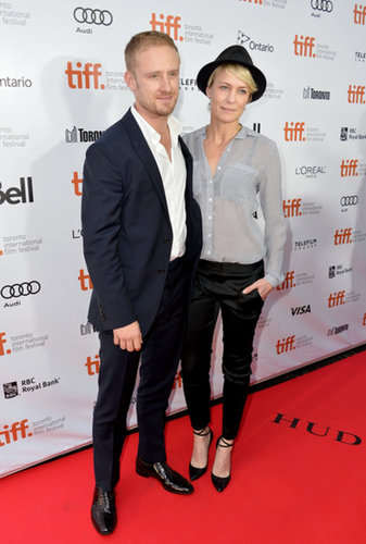 Robin Wright and Ben Foster hit the red carpet for Kill Your Darlings.