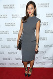 Jamie Chung was sleek and chic in a gray peplum dress and studded pumps at the Badgley Mischka store opening party.