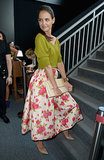 Katie Holmes Makes a Colorful Cameo at NYFW