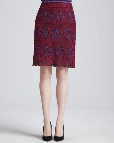 MARC by Marc Jacobs Lancaster A-line Lace Skirt