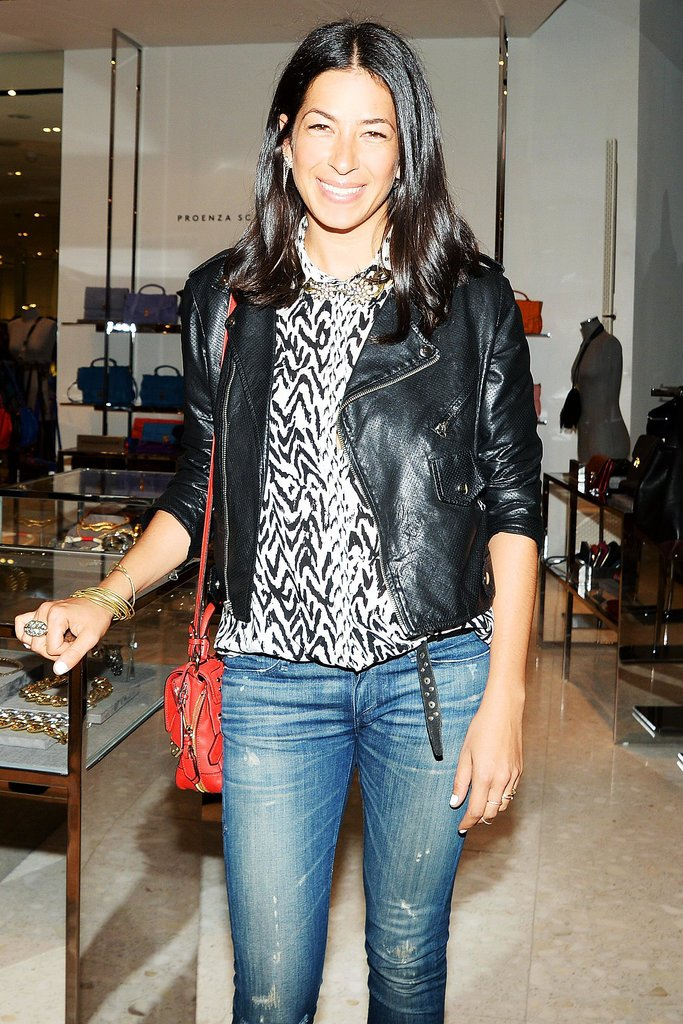 Rebecca Minkoff helped launch Leandra Medine's book in a Man Repeller-approved leather biker jacket.