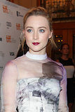 Saoirse Ronan brought a ruby lip to the premiere of How I Live Now.