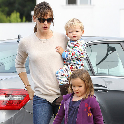 Jennifer Garner With Seraphina and Samuel Affleck in LA
