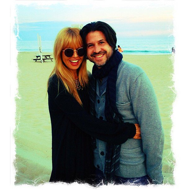 Rachel Zoe and Rodger Berman kissed Summer goodbye with this sweet beach snap. Source: Instagram user rachelzoe