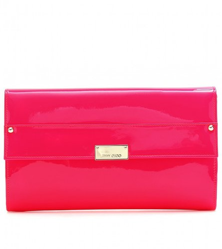 Jimmy Choo REESE PATENT LEATHER CLUTCH
