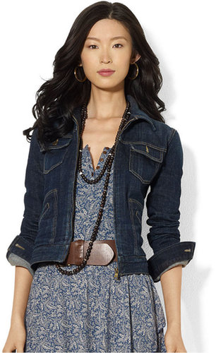 Lauren Ralph Lauren Lauren Jeans Co. Petite Jacket, Denim Zippered