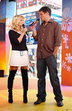 Jessica Simpson and Nick Lachey promoted Newlyweds on TRL in 2003.