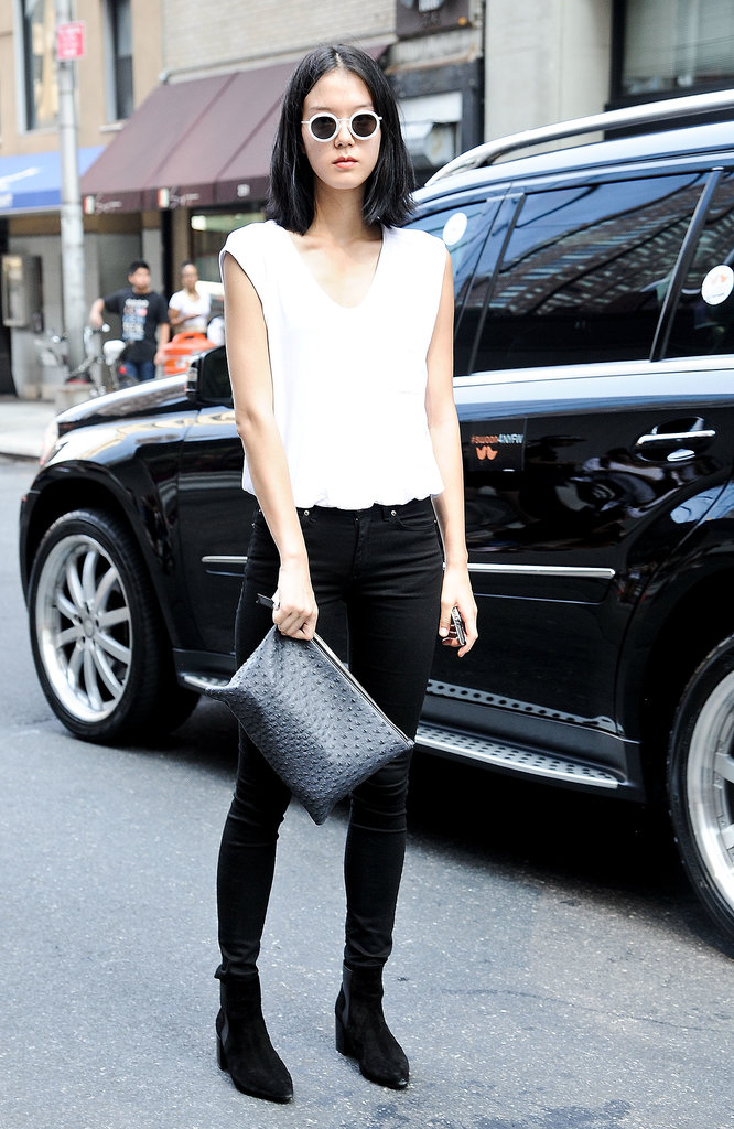 Effortlessly cool in white and black.