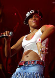 Rapper Eve performed during MTV's TRL tour in 2001 in Las Vegas.