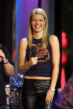 Gwyneth Paltrow rocked some leather pants during a 2001 TRL appearance.