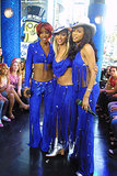Destiny's Child made a TRL appearance with matching blue outfits in 2001.
