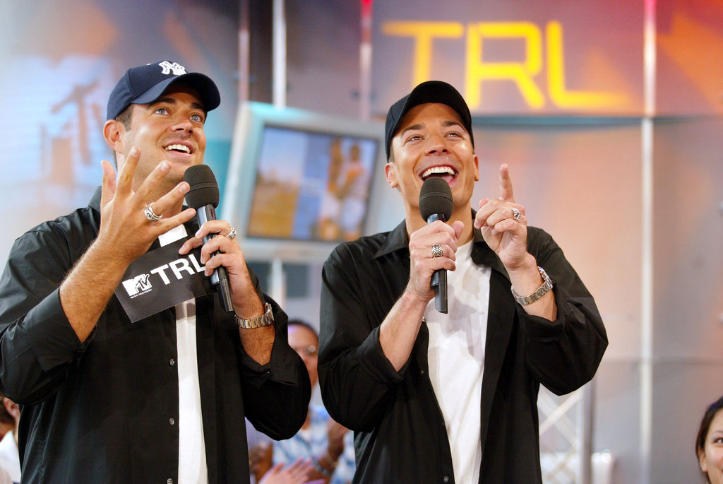 Jimmy Fallon (and a matching Carson Daly) played a game on TRL in 2002.