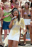 Ashanti performed during MTV All Access Week on TRL at the MTV Beach House in New Jersey in 2002.