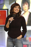Tiffani Thiessen stopped by TRL in 2003.