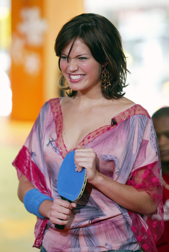 Mandy Moore stopped by TRL and played some ping-pong in 2003.