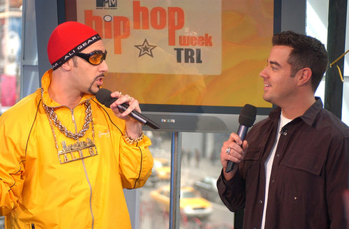 Ali G chatted with Carson Daly on TRL in 2003.