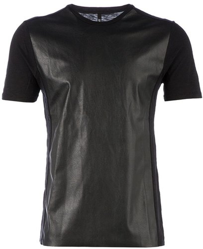 Neil Barrett faux leather front t-shirt