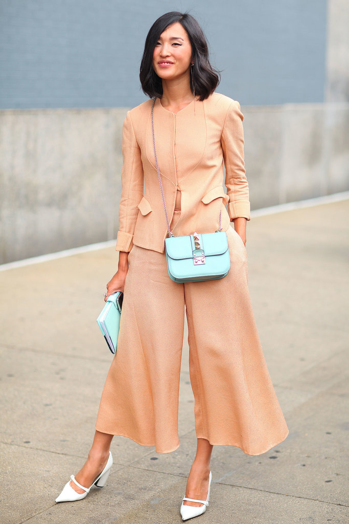 Nicole Warne looked completely lovely in pastels.