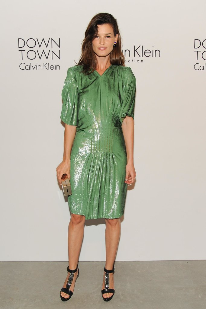 Hanneli Mustaparta was a standout for the Calvin Klein Collection Downtown event.